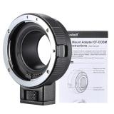 Andoer EF-EOSM Lensa Dudukan Adaptor Dukungan Oto-paparan Otomatis Fokus dan Auto-bukaan untuk Canon EF/ EF-S Seri Lensa untuk EOS M EF-M M2 M3 M10 Tubuh Gambar Kamera Dukungan Stabilitas-Internasional - 5