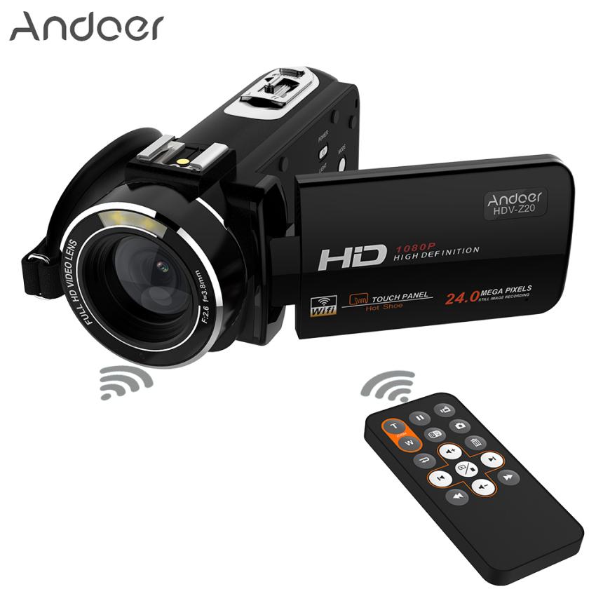 Andoer HDV-Z20 Portabel 1080 P HD Penuh Kamera Video Digital Max 24 Megapiksel 16X Digital Camcorder Menderu 3.0 Inci LCD Layar Sentuhdengan Remote Mengendalikan Diputar Dukungan Koneksi WiFi Unikdesain Sepatu Panas Outdoorfr