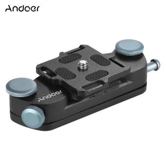 Andoer Metal Quick Release Camera Waist Belt Strap Buckle ButtonMount Clip for Canon Nikon Sony DSLR Cameras Max. Load Capacity20kg - Intl