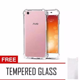 ANTI SHOCK / ANTI CRACK CASEOLOGY VIVO V5 PLUS CLEAR + GRATIS TEMPERED GLASS