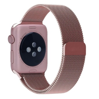 Watch Band - 38mm Rose gold Milanese Loop Stainless Steel Bracelet Strap Magnetic Closure Clasp - Replacement Wrist Band for Series 1 Series 2 Series 3 ...