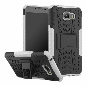 Armor Phone Case untuk Samsung Galaxy C9 Pro Silicone Holder Stand Hard Shockproof Back Cover Case