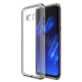 Karena Saat Case Anda Samsung Galaksi S8 Plus Kristal Bening Lembut TPU Bemper Keras Buah Kembali