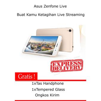 Asus Zenfone Live - ZB501KL - 16GB - Gold -Free Tas + Tempered Glass