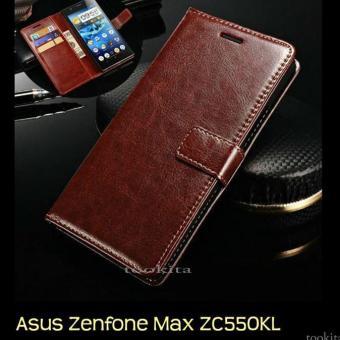 Asus Zenfone Max Zc550kl Retro Pu Leather Flip Case Luxury Wallet