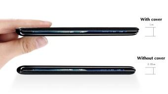 ... Asuwish Flip Cover untuk Samsung Galaxy Note Edge N9150 N915 N915F Slim Telepon Asli Dompet