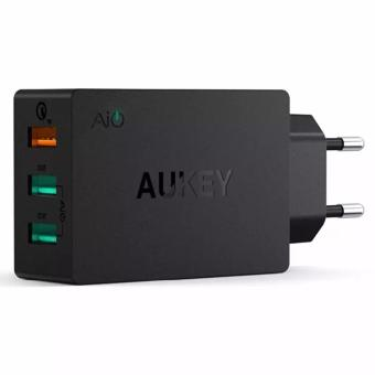 Aukey USB Wall Charger Fast Charging 3 Port EU Plug 42W AiPower - PA-T2