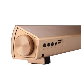 Auto Fan BoutiqueBluetooth 4.1 Sound Bar Handsfree Musik Speaker Subwoofer Home Theater Soundbar-Intl .