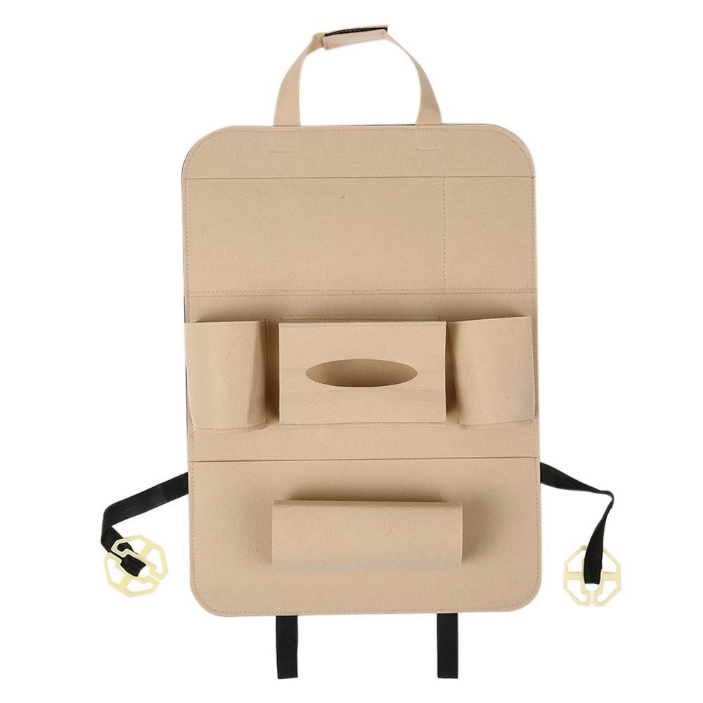Penyelenggara Penyimpanan Tas Gantung Hitam. Auto Mobil Backseat Organizer Styling Holder Felt .