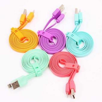 AwCase KABEL DATA USB iPhone pipih CABLE FOR iPhone