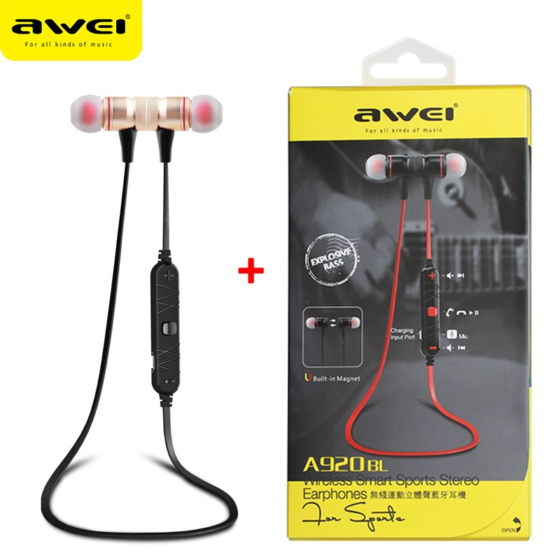 Review of Awei A920bl Update Versi Bluetooth V4.1 Earphone Nirkabel Headphone dengan Mikrofon Headset