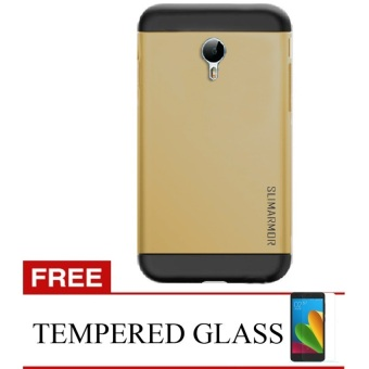 Back Case Meizu M2 Note Hardcase Slim Armor - Gold + Bonus Tempered Glass