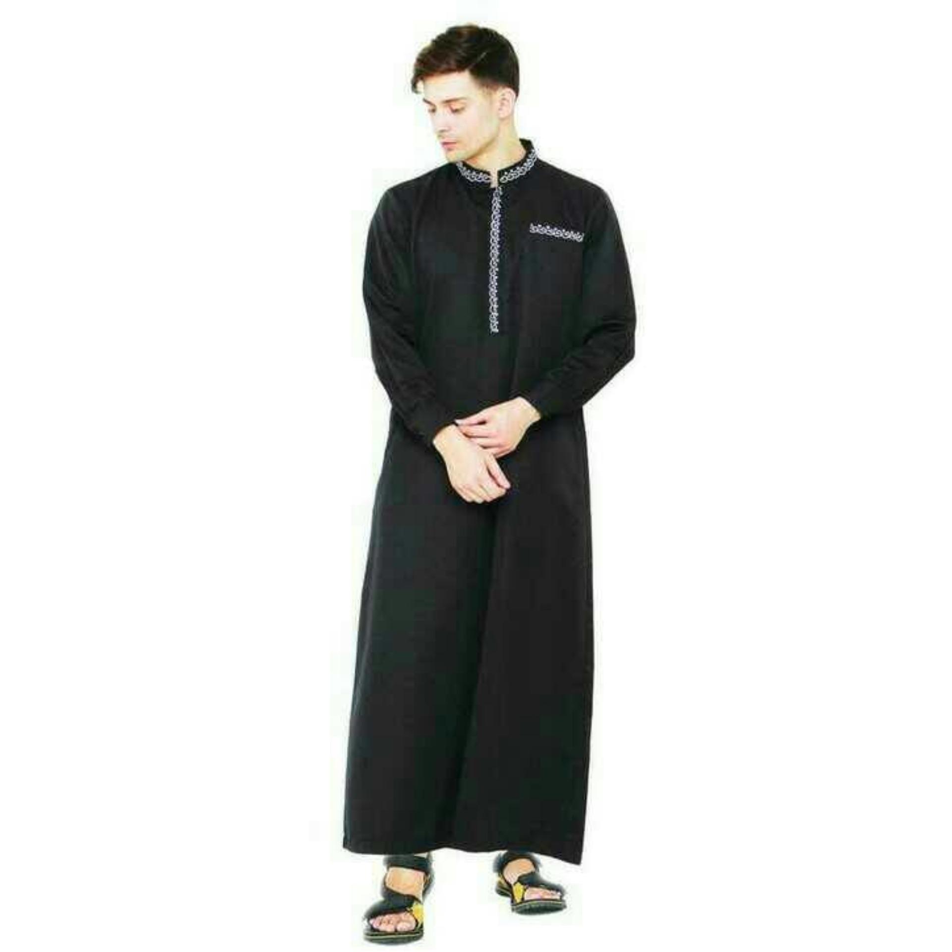 Cek Harga Baru Baju Gamis Pria Hitam Panjang Best Sealer Baju Muslim