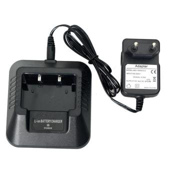 Termurah !! Baofeng Walkie Talkie Battery Charger For BF-UV5R - Black / Hitam Casan Charger Berkualitas Original