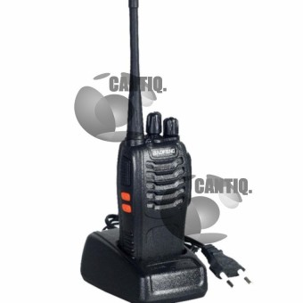 Baofeng Walkie Talkie Black Walkie Talkie HT (Handy Talkie) BF-888S UHF 16CH - Hitam