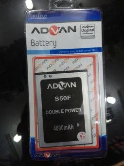 Baterai Advan S50F Double Power 4800Mah.