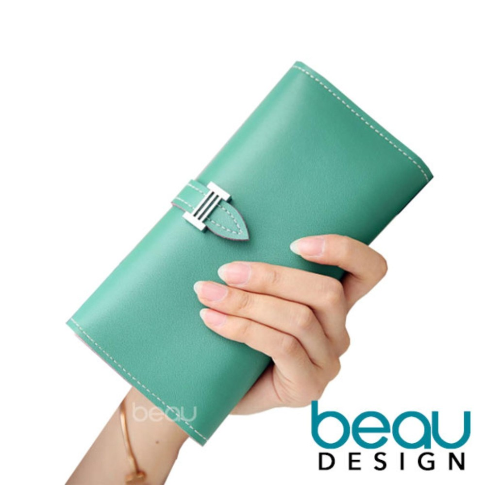 Beau Design Dompet Wanita Import Batam Branded Model Terbaru Kulit Soft  Lembut PU Leather Women Long 3035ac471c