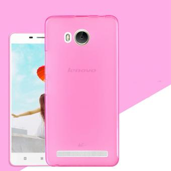 Beauty Jelly Case Lenovo A6600 Luxury Softcase Ultrathin Anti Jamur Air Case 0.3mm / Silicone Lenovo A6600 Soft Case / Silikon / Case Hp / Jelly Case / Softshell Lenovo A 6600- Pink Transparant