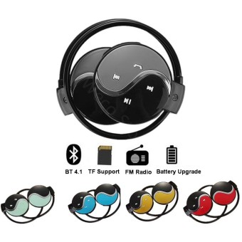 Bluetooth Headphone Nirkabel Olahraga Stereo Headset Neckband Musik MP3 Earphone Penopang TF Memori Kartu FM Radio