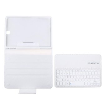 Bluetooth Keyboard Leather Case + Stand for Samsung Galaxy Tab S2 T810/Tab (White