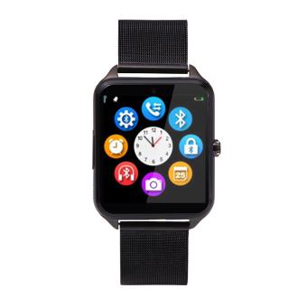Bluetooth Smart Watch Ponsel Z60 Stainless Steel Penopang SIM TF Kartu Kamera Kebugaran Tracker Smartwatch untuk