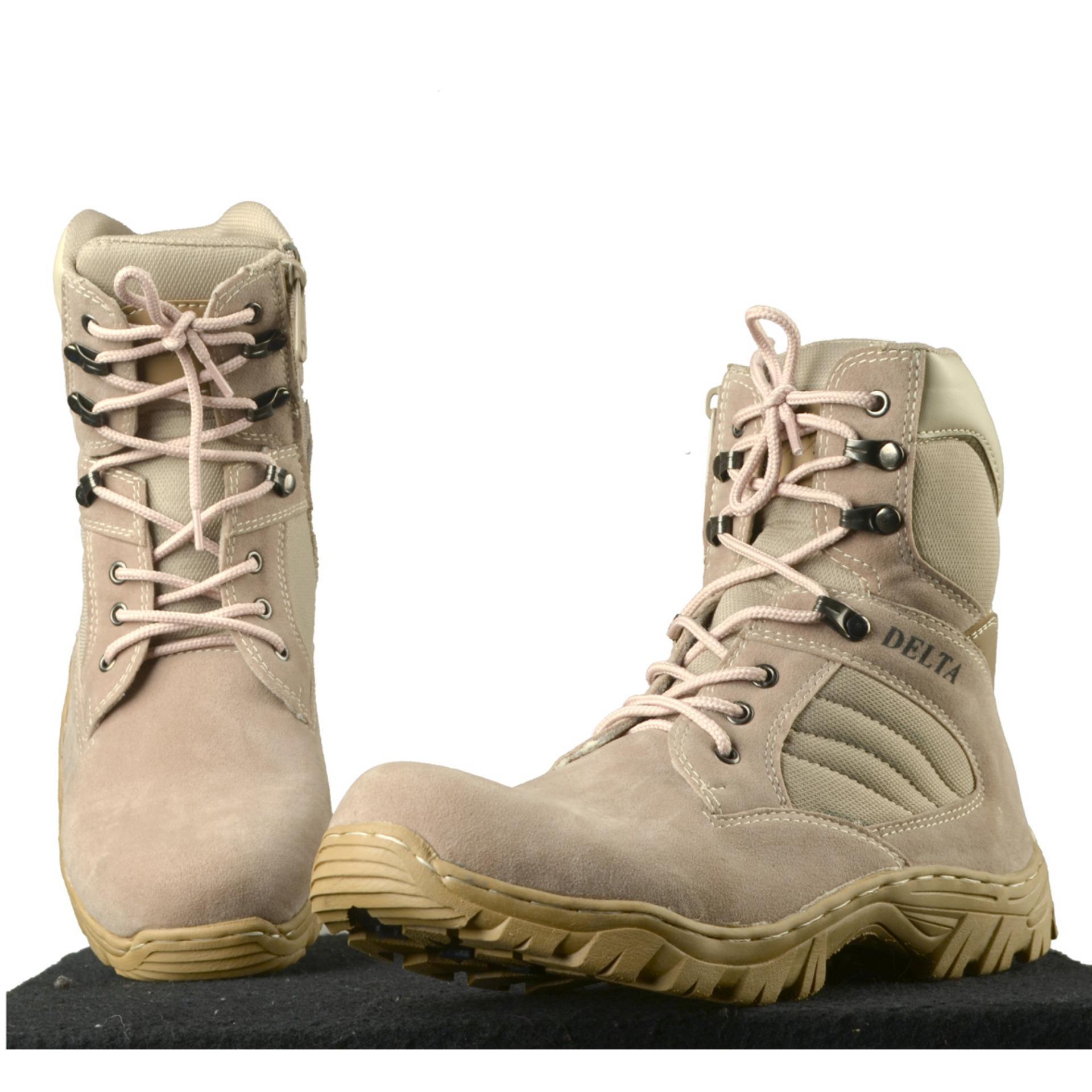Cek Harga Baru Promo Sepatu Boots Safety Delta Tactical Army Tni Pdl Arboo Tracking Krem