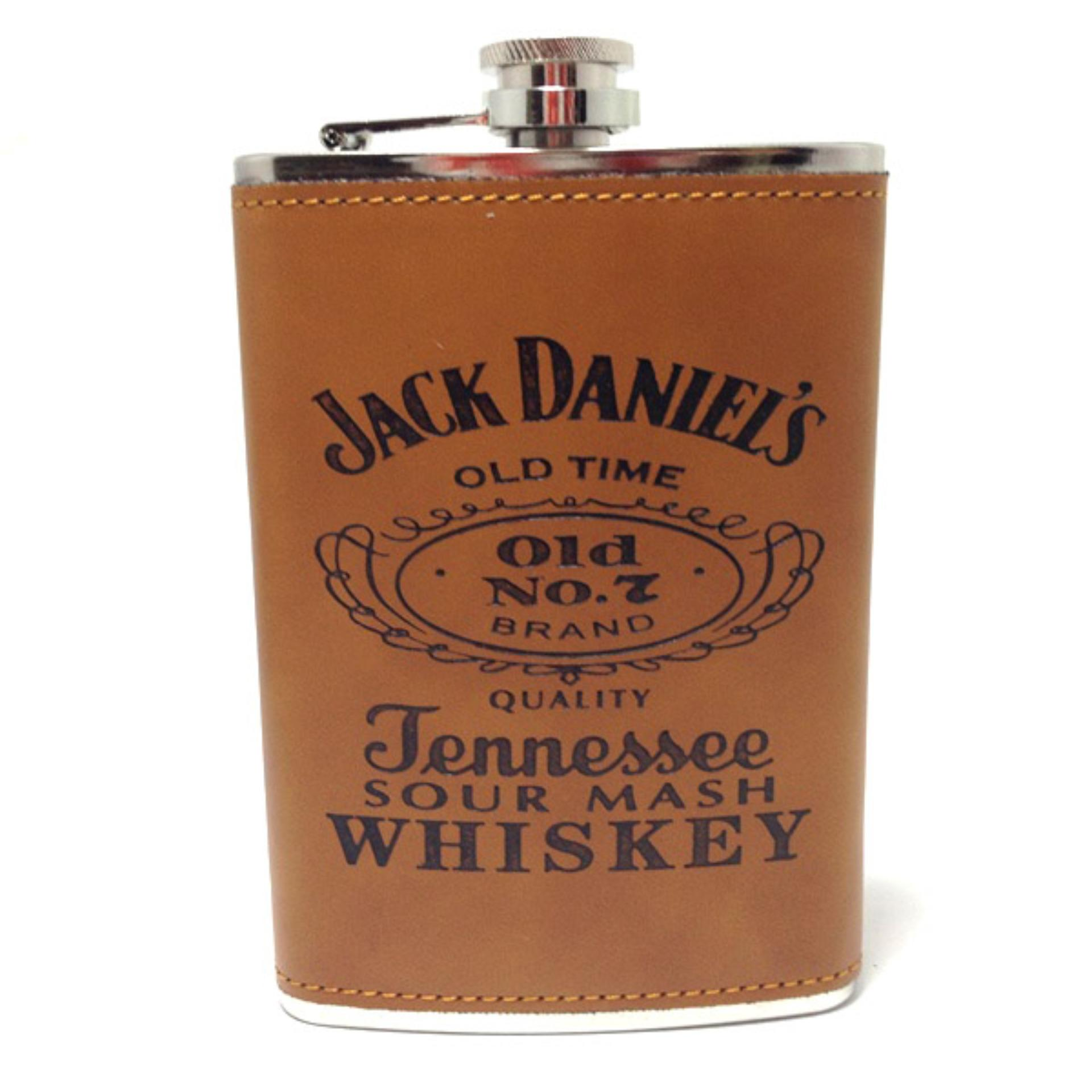 Kelebihan Botol Minum Hip Flask Whiskey Kulit 60 Z Jack Danil Famo Short 503051814hj Wine Bir Square Shape Stainless Steel Daniels 90z Brown