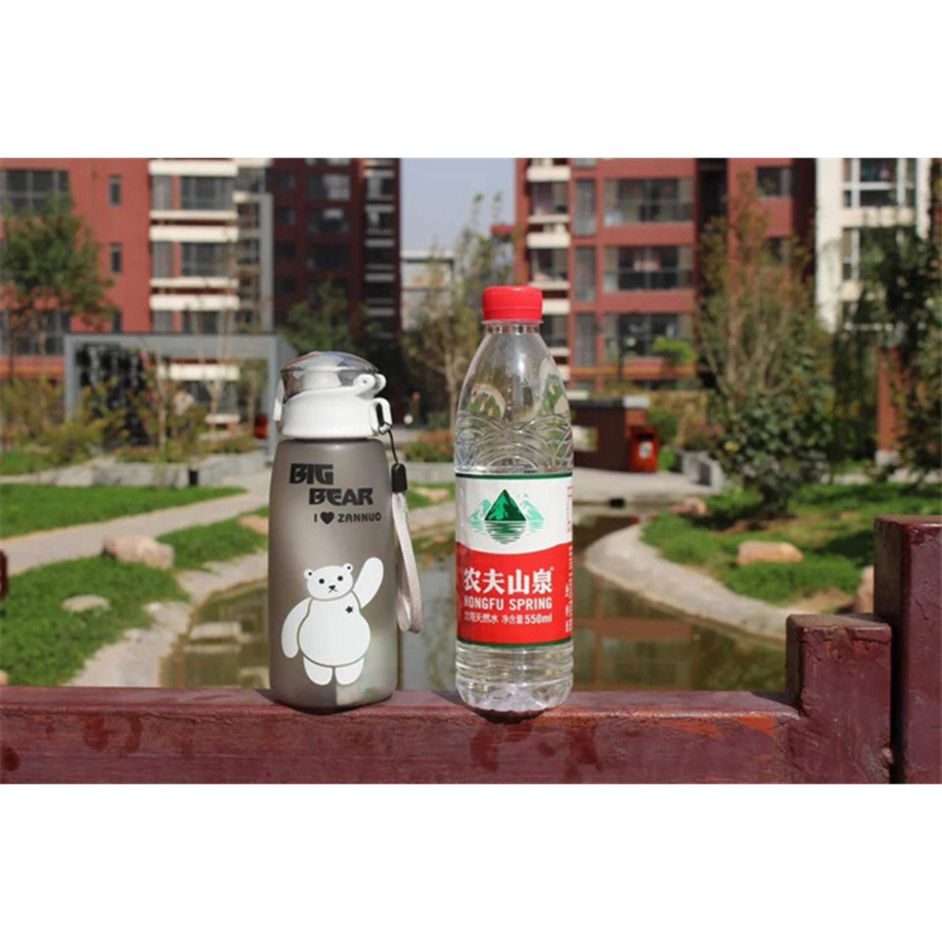 Cek Harga Baru Anabelle Botol Air Minum Unik Bpa Free Anti Tumpah Bottle Big Bear 500ml Murah