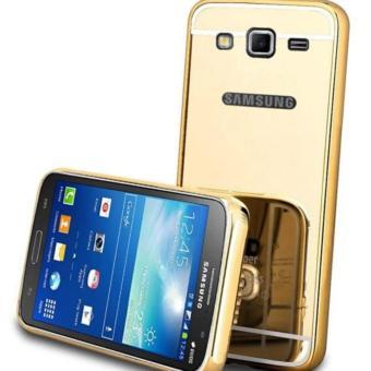 Bumper Mirror Samsung Galaxy Grand Prime / Backcase Samsung G530 Alumunium Metal Sliding Hardcase Samsung G530