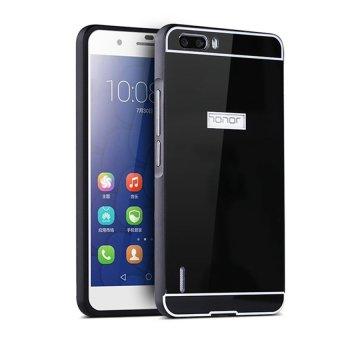 Bumper Mirror untuk Huawei Honor 4X 2 in 1 Slide Mirror Backcase Hardcase - Hitam