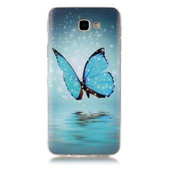 Hot Deals Butterfly Noctilucent TPU Lembut Kantong Gas Belakang Case Cover untuk Samsung GALAXY J7 Prime