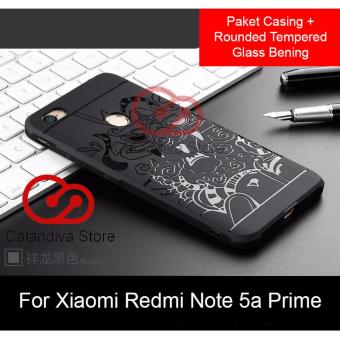Calandiva Dragon Shockproof Hybrid Case for Xiaomi Redmi Note 5A Prime 5.5 Inch + Rounded Tempered