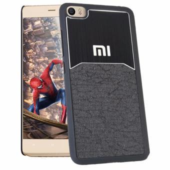 Calandiva Hardcase Half Metal Half Leather untuk Xiaomi Mi 5 / Mi 5 Pro - Hitam