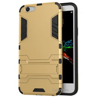 Calandiva Rugged Kickstand Slim Armor Hardcase for Oppo F1s / A59 / A59S 5.5 Inch - Gold