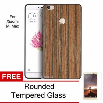 Calandiva Wood Texture Slim Softcase for Xiaomi MI Max (Pertama) - Coklat + Rounded