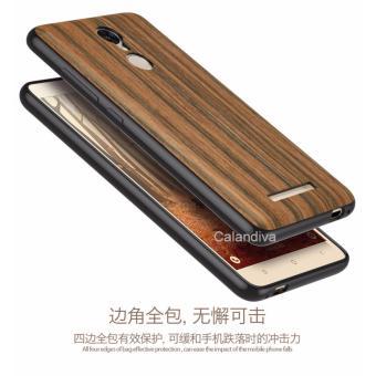 Calandiva Wood Texture Slim Softcase for Xiaomi Redmi Note 3 / Prime / Pro Versi Kenzo