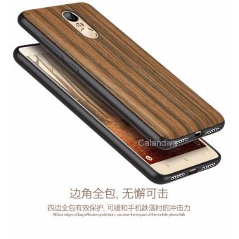 Calandiva Wood Texture TPU Full Protection Slim Softcase for Xiaomi Redmi Note 4 Mediatek / Redmi