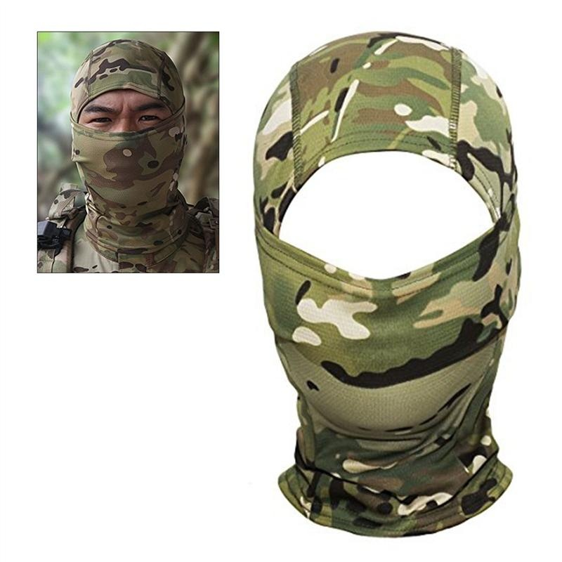 Camouflage Hood Ninja Outdoor Cycling Motorcycle Hunting Military Tactical Helmet Liner Gear Full Face Mask (