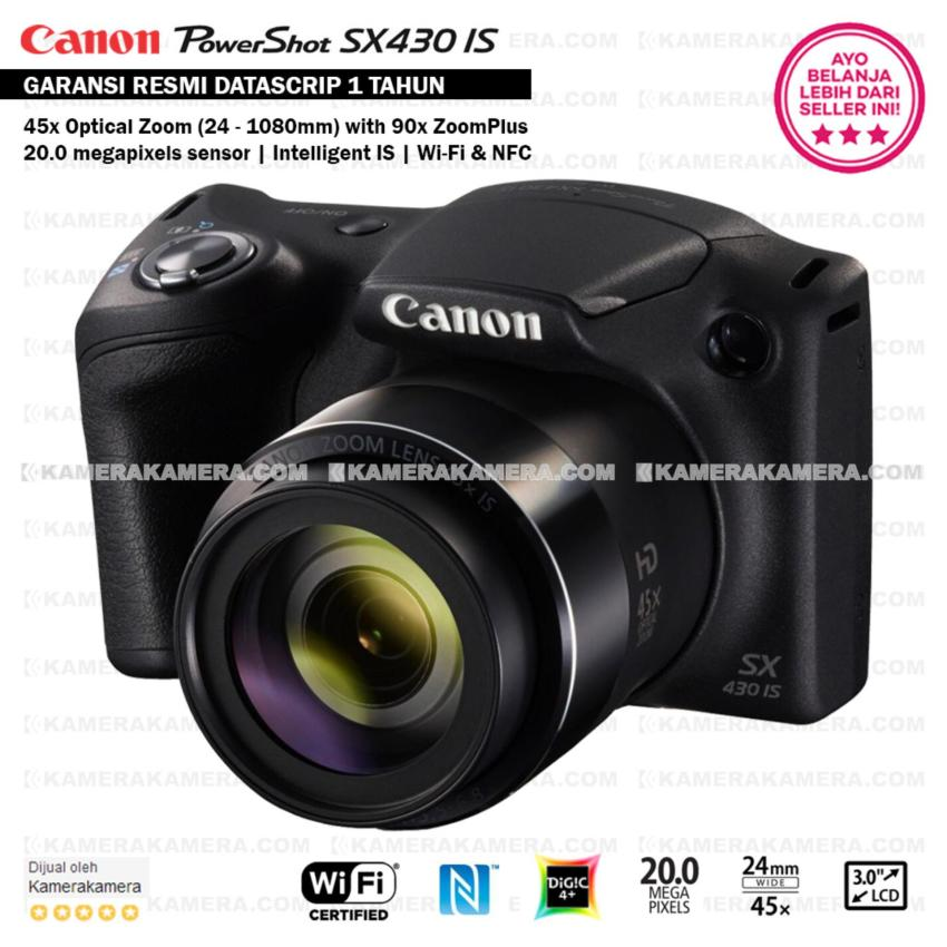 Canon PowerShot SX430 IS - WiFi 20MP 45x Optical Zoom (Resmi Datascrip)