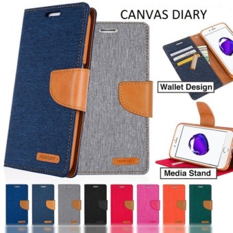 Canvas Diary Flipcover Flipcase Flip Cover Case Oppo F5