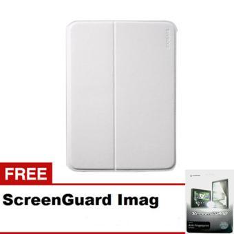CAPDASE Case Samsung Galaxy TAB 3 10 Folder case FLIP JACKET - White + Gratis ScreenGuard