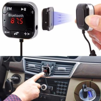 Car Kit Wireless Bluetooth FM Transmitter MP3 Player USB SD LCD Remote Handsfree - intl
