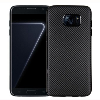 Carbon Case Samsung S7 Edge Softcase TPU - Hitam