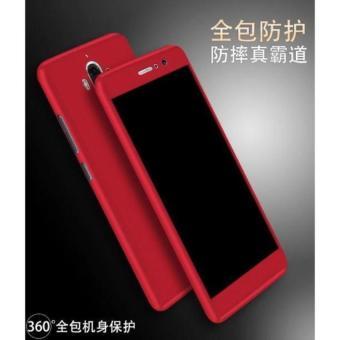 Case 360 Protect Xiaomi Redmi Note 4 4X Hitam Merah With Tempered glass  premium 078d17bd54