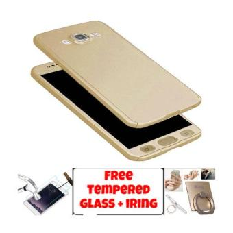 Case 360 Samsung Galaxy J5 2016 FullHardCase Casing Neo Hybrid Free Tempered Glass + Iring