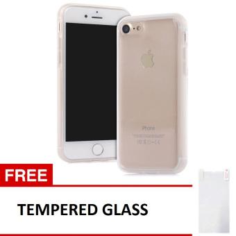 Case Anti Gravity Apple iPhone 7 Nano Technology Soft TPU + Tempered Glass - Silver