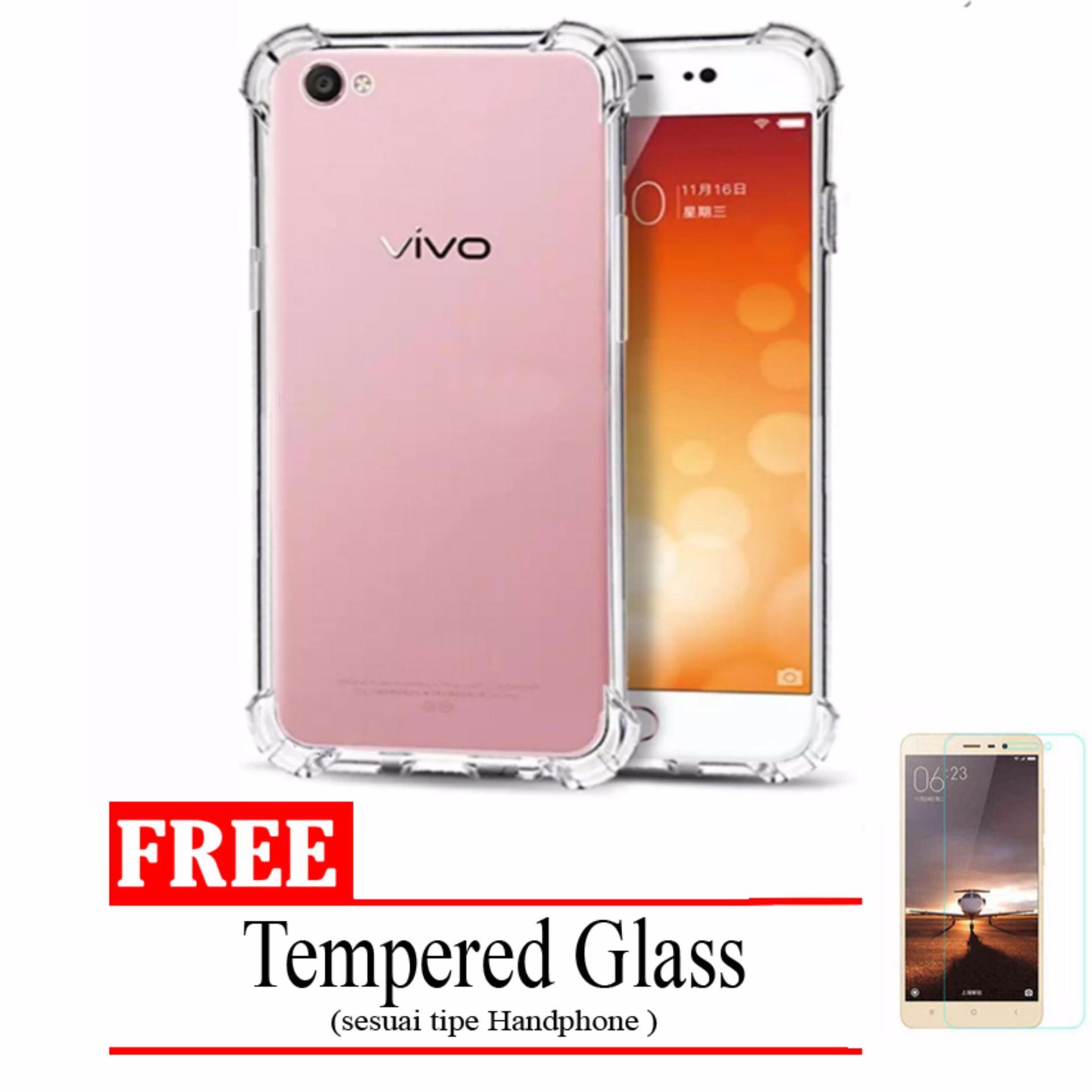 Case Original Anti Shock Crack For Vivo V3 Y53 Fuze Fyber Clear Y51 Putih Hot Deals Elegant Softcase