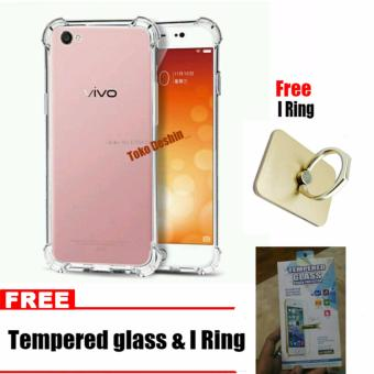 Case Anti Shock / Anti Crack Elegant Softcase for Vivo Y53 Free Tempered Glass dan I
