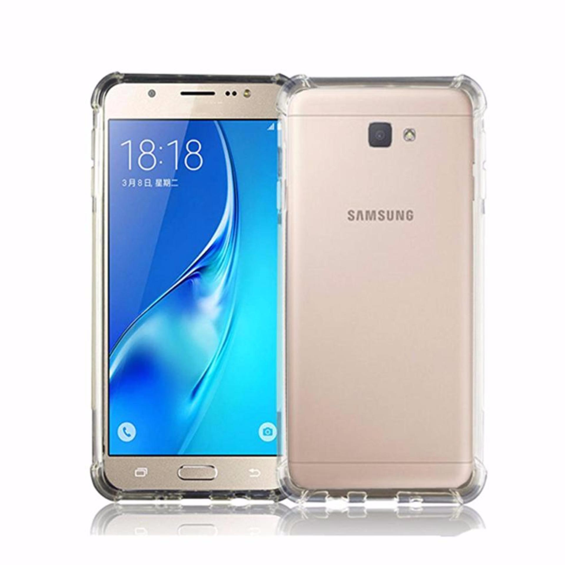 Case Anti Shock Anti Crack Softcase Casing for Samsung A7 2017 / A720 - Clear