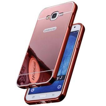 Case Bumper Mirror for Samsung Galaxy J3 2016 - Rose Gold
